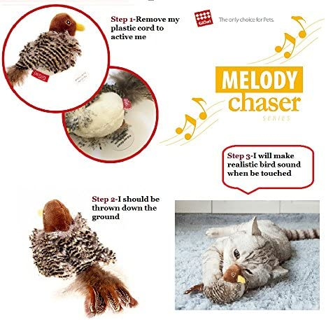 Gigwi Interactive Cat Toys Animal Sound Interactive Squeaking Cat Toys Melody Chaser& Toys for Cats to Play Alone,Play N Squeak Kitten Toy for Boredom 4