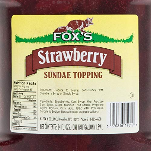 TableTop King 1/2 Gallon Strawberry Ice Cream Sundae Topping - 6/Case by TableTop King (Image #2)