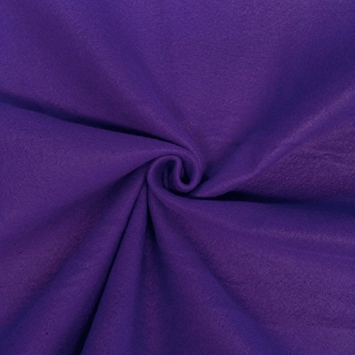 """Solid Polar Fleece Fabric Anti-Pill 60"""" Wide by The Yard Many Colors (Purple)"""