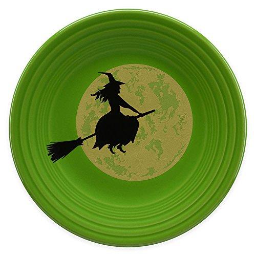 Fiesta Halloween Harvest Moon Witch Luncheon Plate in Green (Fiesta Halloween)