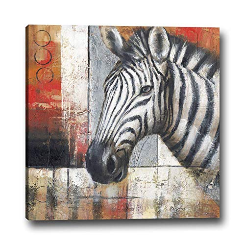 Price comparison product image LUCK DAY 1 PC Frame Modern Style Lnkjet Printing Abstract Zebra