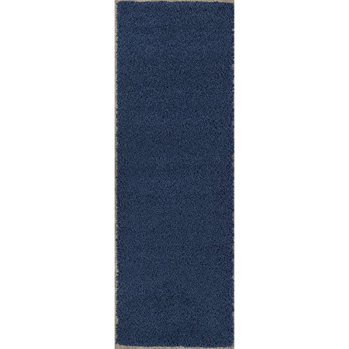 Sweethome Stores Cozy Collection Plush Luxurious Solid Navy Solid Design (2'7