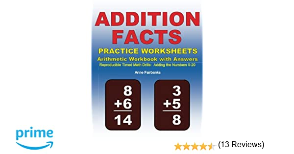 Time Worksheets 2nd grade telling time worksheets : Addition Facts Practice Worksheets Arithmetic Workbook with ...