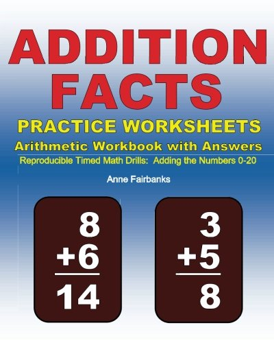 Addition Facts Practice Worksheets Arithmetic Workbook with ...