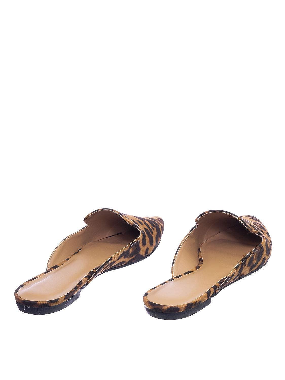 Women Flat Backless Pointed Toe Pump Aquapillar Slip On Mule Slippers