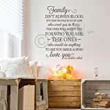Family Isn't Always Blood..it's the People in Your Life Who Want You in Theirs…Vinyl Lettering Wall Decal (Metallic Bronze, 21.5''W x 32''H)