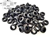 Lot of 25 Rubber Grommets 3/4'' Inside Diameter - Fits 1'' Panel Holes