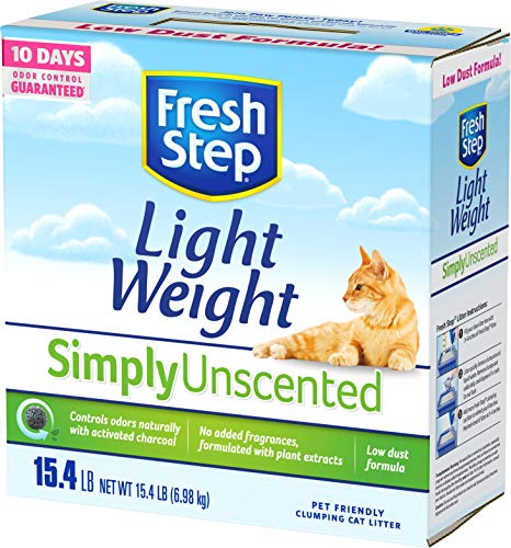 Fresh Step Simply Unscented Lightweight Litter, Clumping Cat Litter, 15.4 Pounds (Best Litter Scoop Ever)