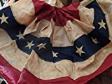 Primtive Tea Stained American Flag Bunting~Swag~Banner Review
