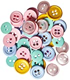 Blumenthal Lansing Favorite Findings Basic Buttons Assorted Sizes, 130/Pkg, Pastels