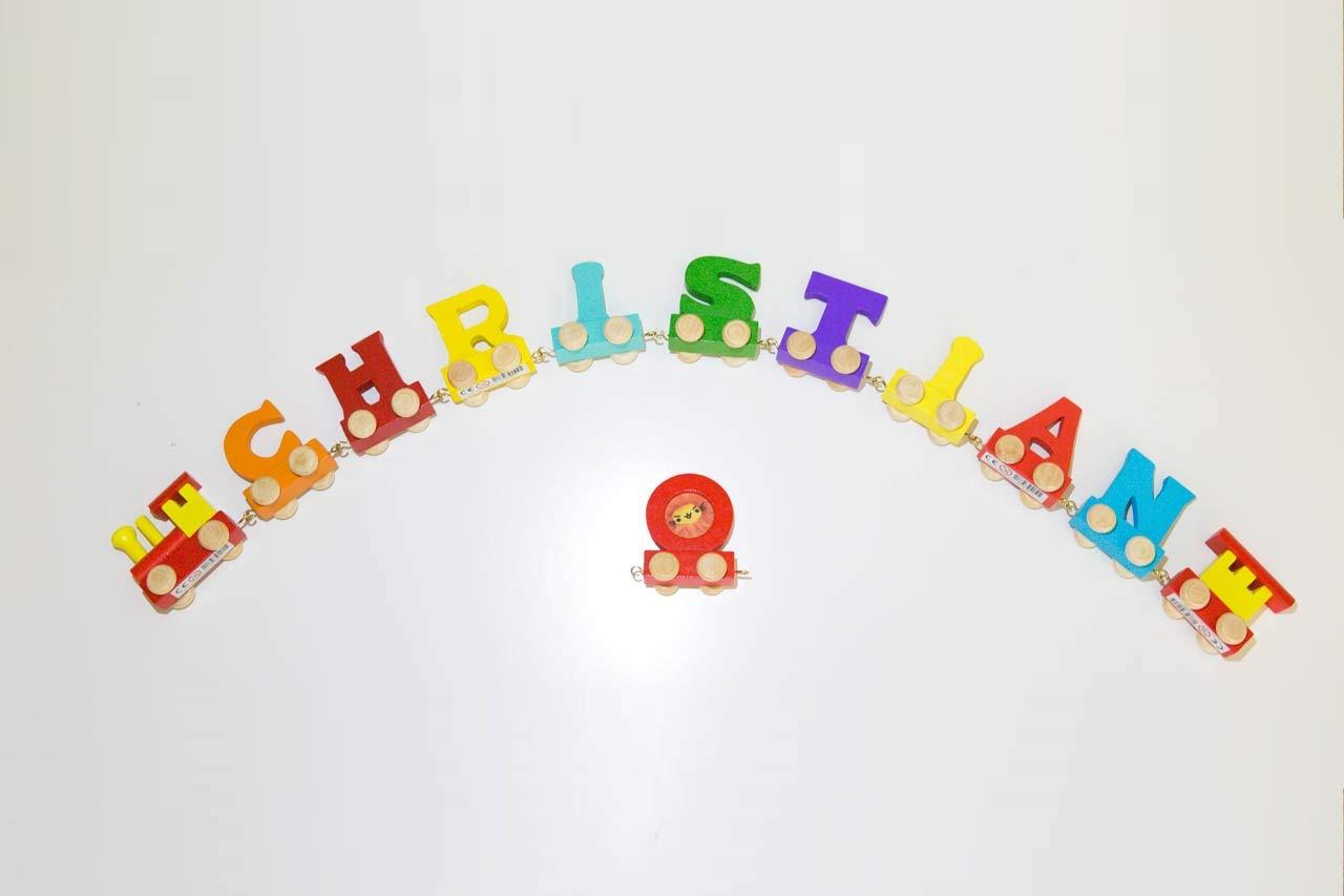 kostenfreie Loc, Waggon /& Fotozug Fun World Toys/® Buchstaben Zug Holz Name Buchstabenzug Namens-Set 10 Buchstaben Namen