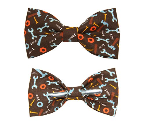 Toddler Boy 3T 4T Tools / Wrench Clip On Cotton Bow Tie