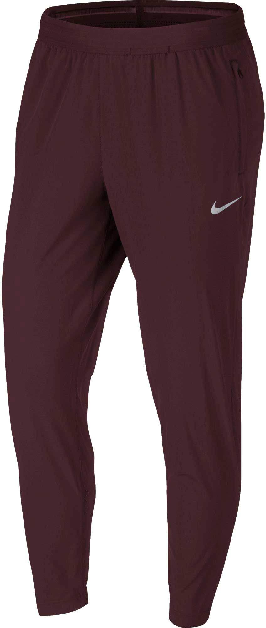 NIKE Women's Essential 7/8 Running Pants (Burgundy Crush, X-Small)