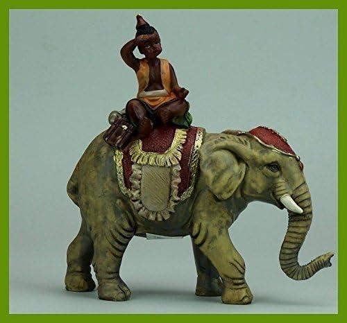 Elefant mit Mohr geeignet f/ür 10cm Figuren