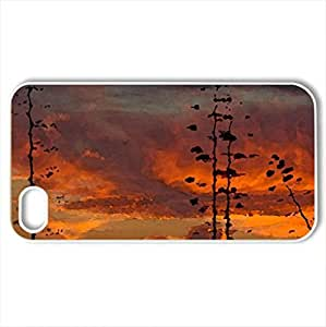 fabulous sunset on kauai hawaii - Case Cover for iPhone 4 and 4s (Sky Series, Watercolor style, White) by lolosakes