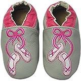 Rose & Chocolat Chaussures Bébé Ballet Slippers Gris