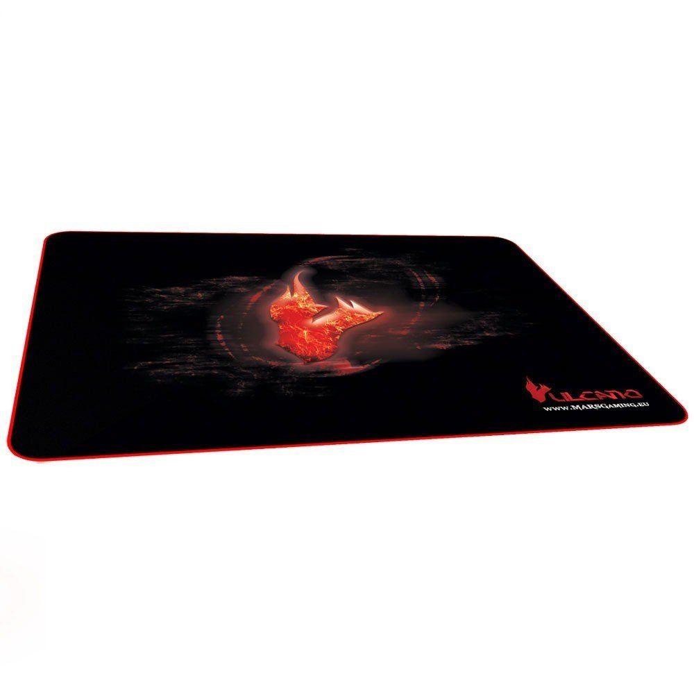 Mars Gaming MMPVU1 - Alfombrilla gaming para PC (base de caucho natural, superficie nanotextil, máxima comodidad y rendimiento), color rojo y negro Tacens