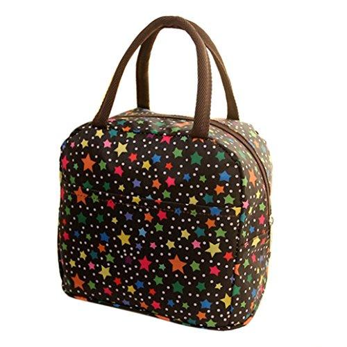 Box School Womens (FAPIZI Clearance! Lunch Bag Thermal Insulated Tote Picnic Lunch Cool Bag Cooler Box Handbag Pouch Picnic Bento Box Handbag for Women Girls (Black))