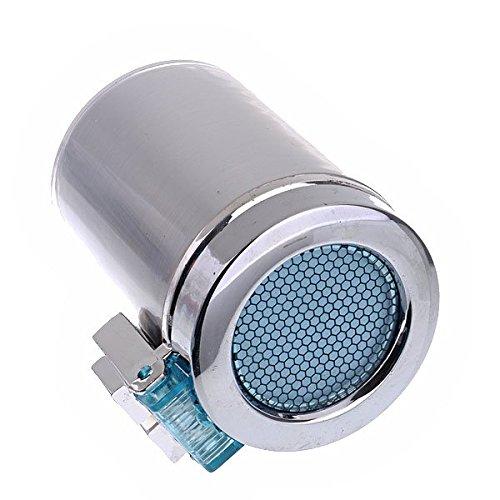 argento LEORX Auto auto sigaretta senza fumo portacenere con luce LED blu
