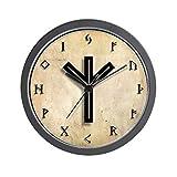 CafePress – Asatru/Rune Clock – Unique Decorative 10″ Wall Clock For Sale