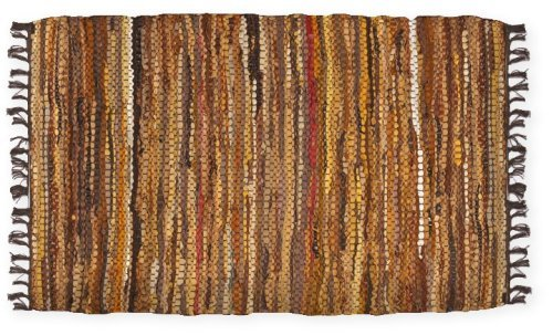 Brown Leather Rug - HF by LT Tucson Leather Rug, 24