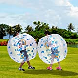 Lantusi Bumper Ball Human Knocker Bubble Soccer football 0.8mm PVC Transparent Material wearable Inflatable Body bumper Zorb Bal