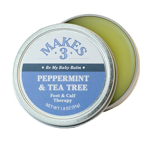 Makes 3 Organic Peppermint & Tea Tree Foot and Calf Therapy - Heals and Protects - Made with 100% Organic Ingredients - Handcrafted in Santa Barbara, (Resurrection Aromatique Hand Balm)