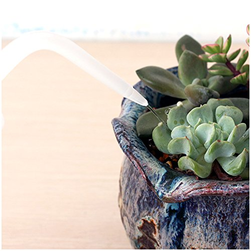 Mkono 2 Pack Plant Flower Succulent Watering Bottle Plastic Bend Mouth Watering Cans Squeeze Bottle--250ML and 500ML
