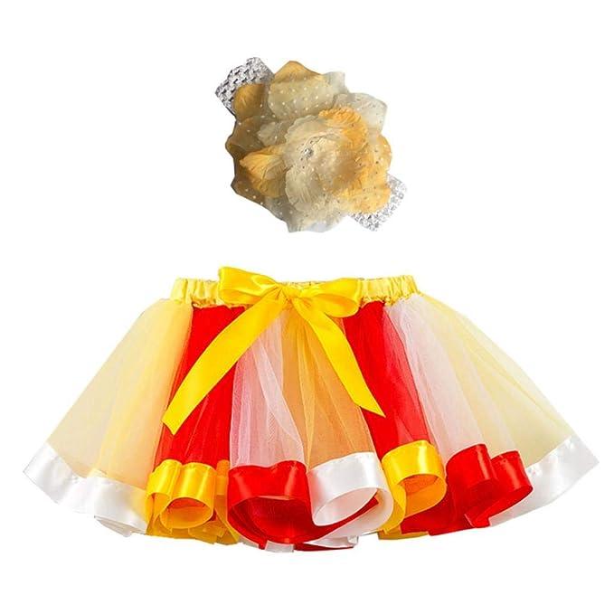 Falda del Tutu para Niña, SHOBDW Niños Regalo De Cumpleaños Fiesta ...