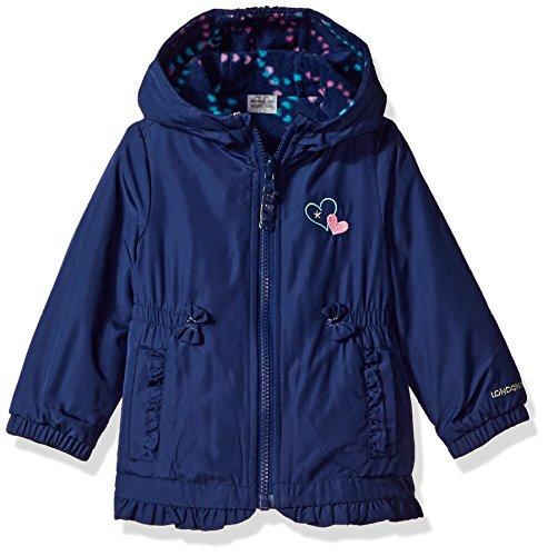 London Fog Baby Girls' Girly Midweight Reversible Jacket Coat