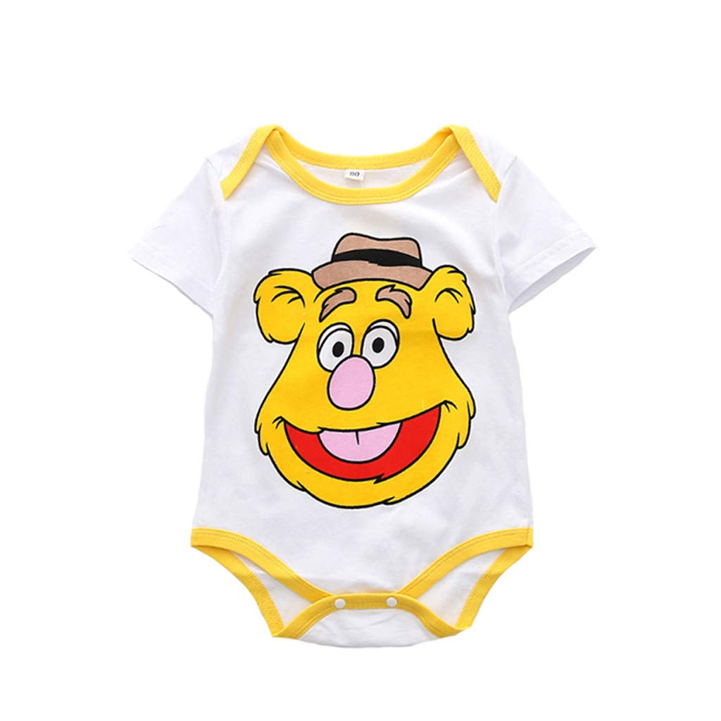 d8f9db13cd31 Amazon.com  Cuekondy 6-24 Months Toddler Baby Girl Boy Cute Cartoon Printed  Romper Bodysuit+PP Pants Summer Clothes Outfits  Clothing