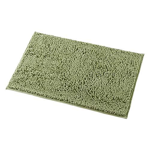 MAYSHINE 20x32 inch Non-Slip Bathroom Rug Shag Shower Mat Machine-Washable Bath mats with Water Absorbent Soft Microfibers of - Sage Green