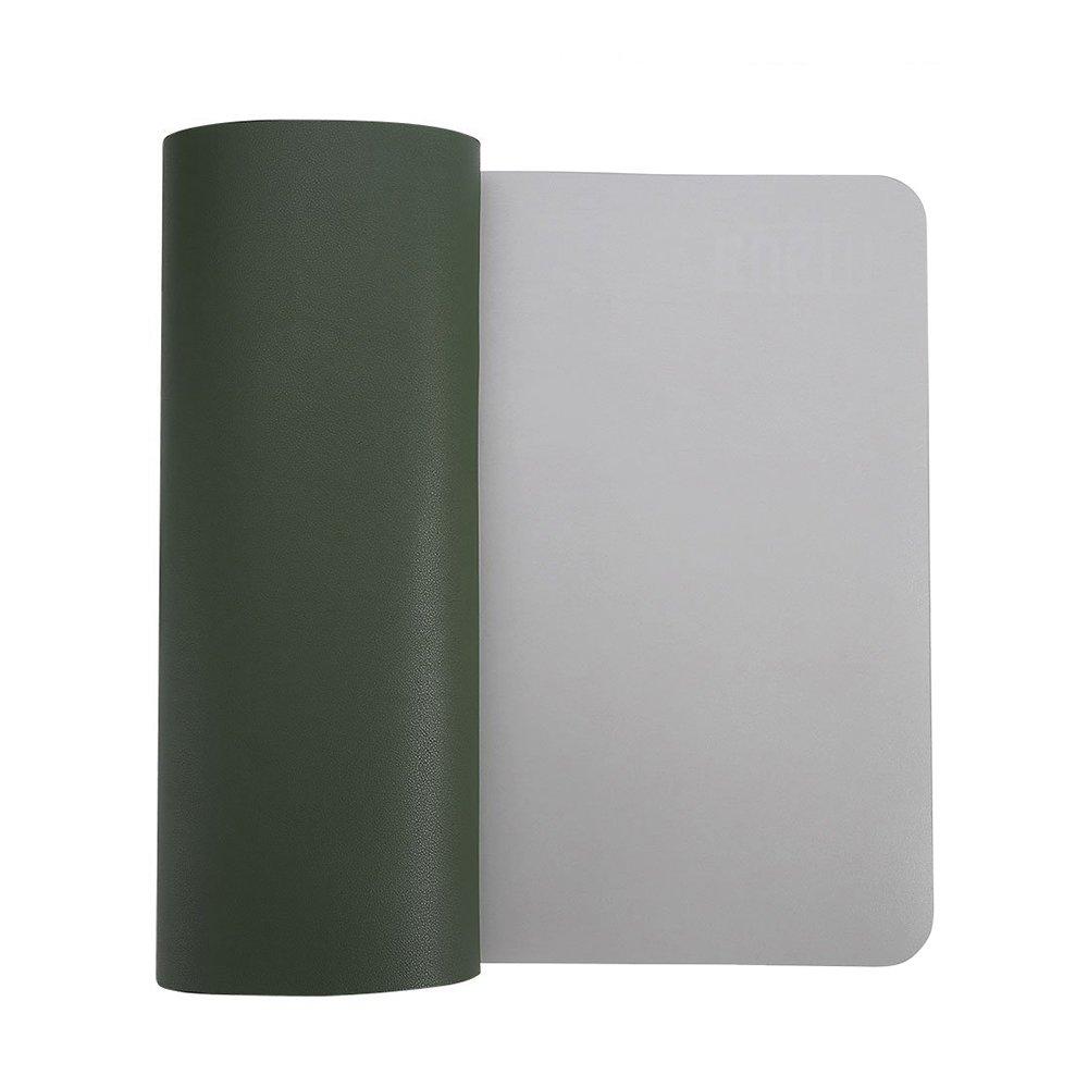 desk Pad para rat/ón de piel sint/ética resistente al agua suave/ rectangular /alfombrilla de escritorio absorbedor pantalla para oficina y hogar color verde M