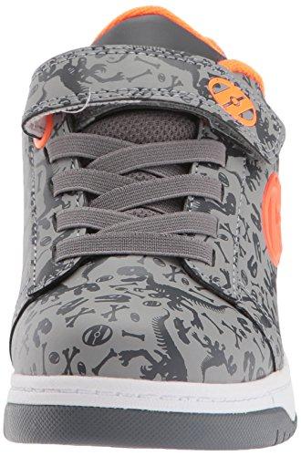 Zapatillas para ni�a, color Rosa , marca HEELYS, modelo Zapatillas Para Ni�a HEELYS DUAL UP X2 Rosa naranja, gris, carbón (Grey/Charcoal/Orange)
