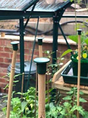 40pcs Garden Safety Cane Caps Eye Protection Garden Cane Topper Caps