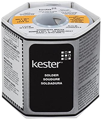 "KESTER SOLDER 32117 24-6040-0027 60/40 Stand, 0.031"" Diameter, 44"", 1.5"" (Pack of 2)"