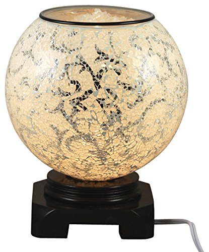 EcoScents Electric Aroma Lamp and Oil Burner with Dimmer Switch, Mosaic Glass Design, The Arctic Circle