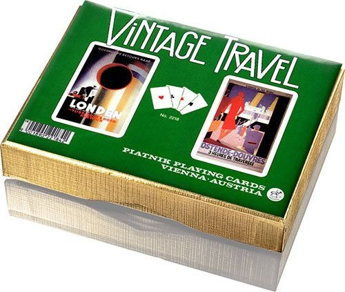 Vintage Travel Playing Cards - Double Deck by Piatnik