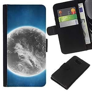 Planetar® Modelo colorido cuero carpeta tirón caso cubierta piel Holster Funda protección Para Samsung ALPHA / SM-G850 / S801 ( Space Planet Galaxy Stars 44 )