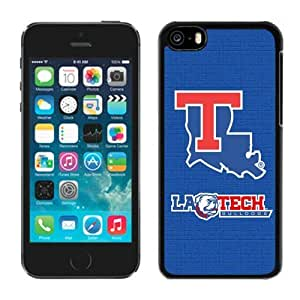 Blue Designer Case for Iphone 5c Ncaa Conference USA Louisiana Tech Bulldogs 5 Cheap Perfect Phone Deals Accessories