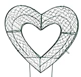 Heart 8 inches high Topiary Frame, Handmade Animal Decoration