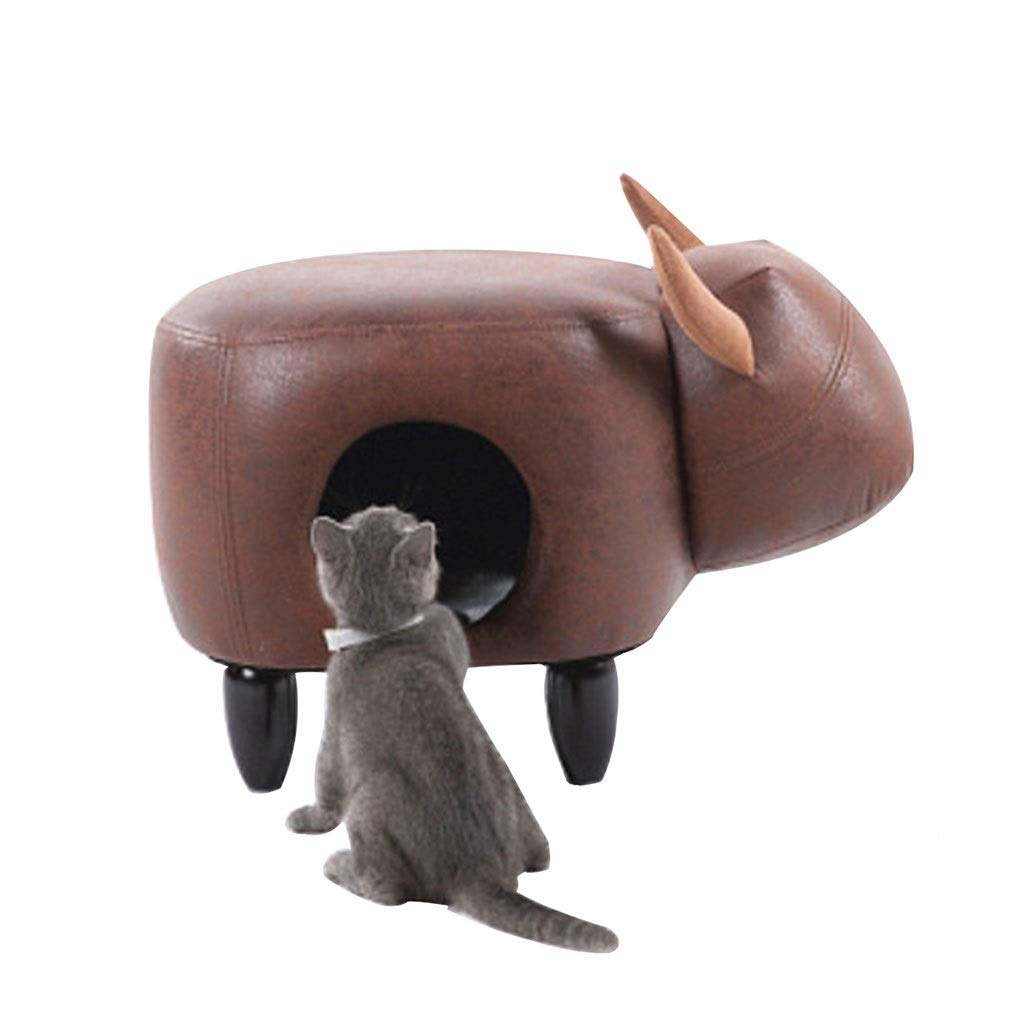 63x36x30CM LSRRYD Pet Bed Stool shoes Can Accommodate The Doghouse Stool Can Carry 150kg, Non-slip Durable Can Be Wiped (Size   63x36x30CM)