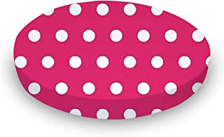 product image for SheetWorld Fitted Oval Crib Sheet (Stokke Sleepi) - Polka Dots Hot Pink - Made In USA