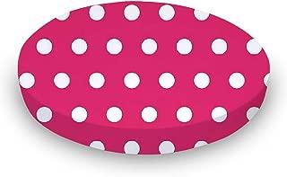 product image for SheetWorld Round Crib Sheets - Polka Dots Hot Pink - Made In USA