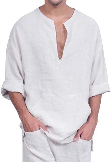 Camisa Anudada De Algodón De Lino De Algodón Anudada Suelta ...