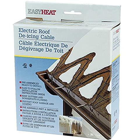 Easy Heat 120' 120V 5W Roof Shingle Down Spout Gutter De-Icing Cable ADKS600 - Easy Heat Roof