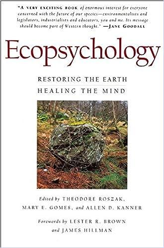 Ecopsychology: Restoring the Earth/Healing the Mind (Sierra Club Books Publication)