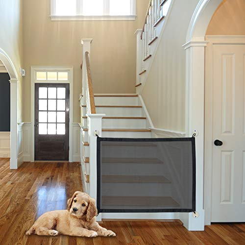 NWK Magic Gate for Dogs, Portable Folding Safe Enclosure Easy Install Anywhere (Baby Safety Fence,Pet Safety Enclosure) - 41x32 inch,Magic Gate As Seen On -