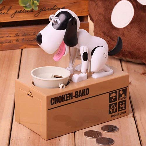 Money Boxes - Creative Electric Cartoon Money Dog Piggy Bank Synthetic Resin Steal Lovers Greedy Kids Save - With Weddings Wedding Parties Gold Locks Piggy Count Graduation That