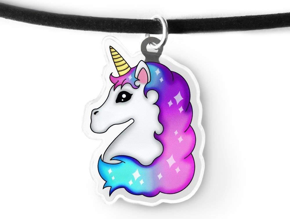 Light Unicorn Charm Choker - Rainbow Unicorn, Magical Unicorn, Fairy Kei, Kawaii Unicorn, Aeshtetic Grunge 3